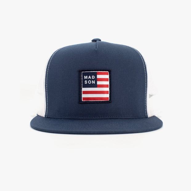 EMPIRE FLAG RWB/ Navy/ White Trucker Hat
