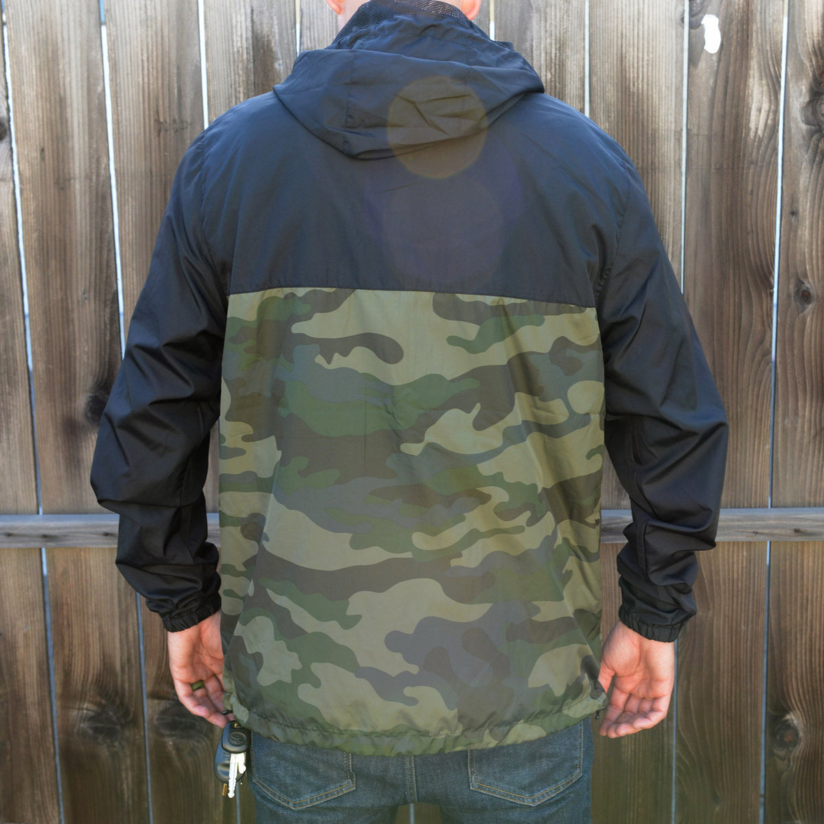 Staple Windbreaker | Black/Camo