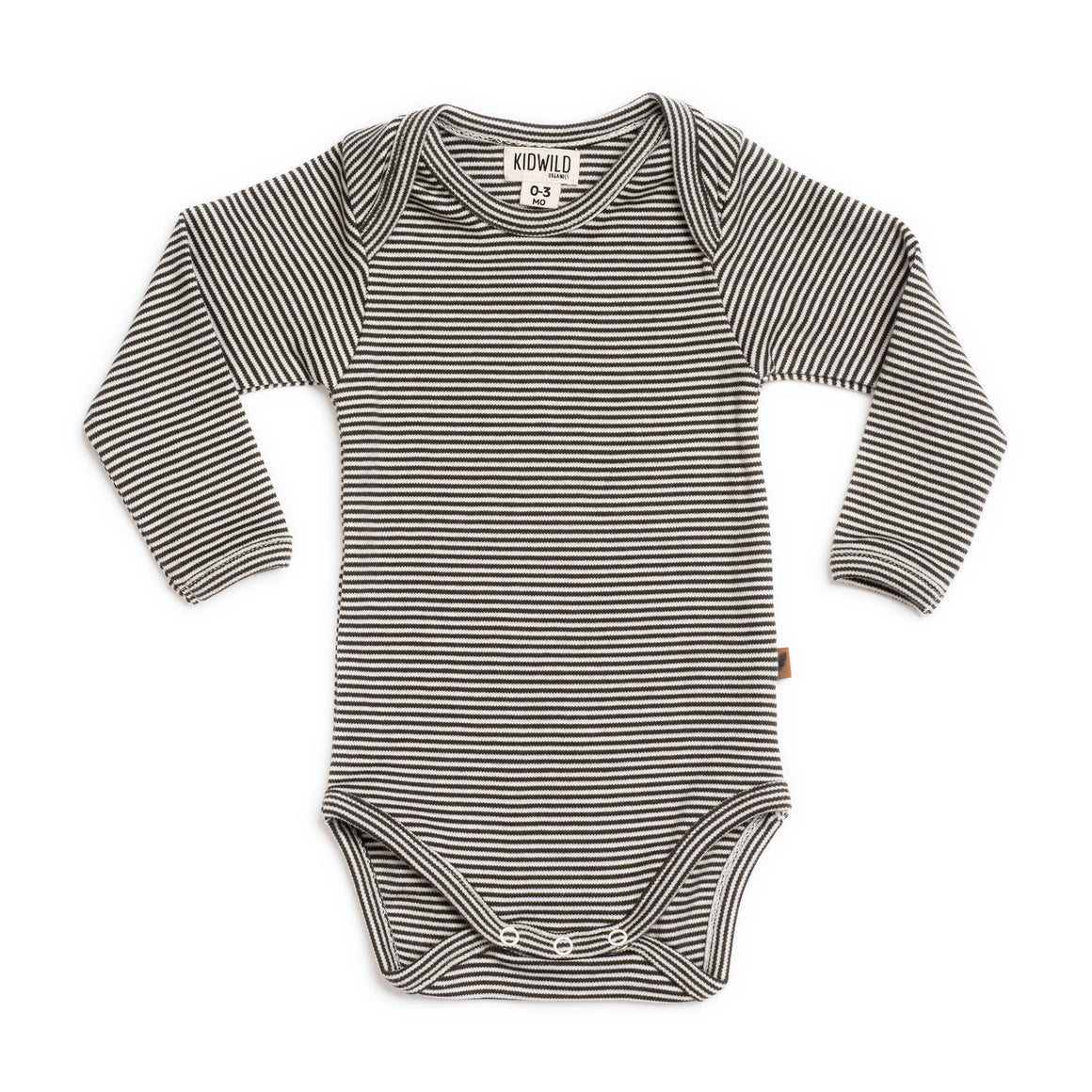 Organic Long Sleeve Bodysuit - Stripe
