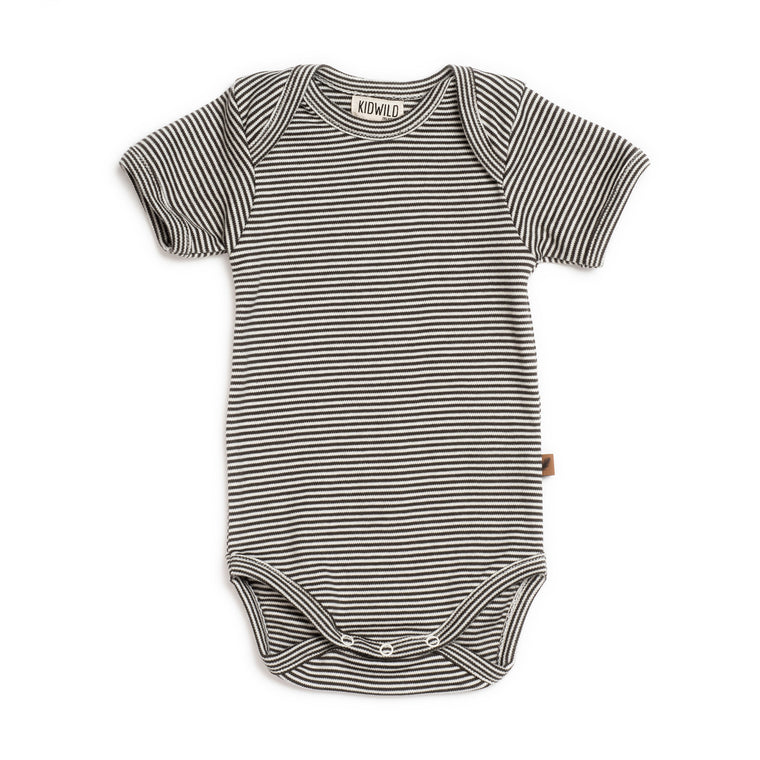 Organic Short Sleeve Bodysuit - Stripe