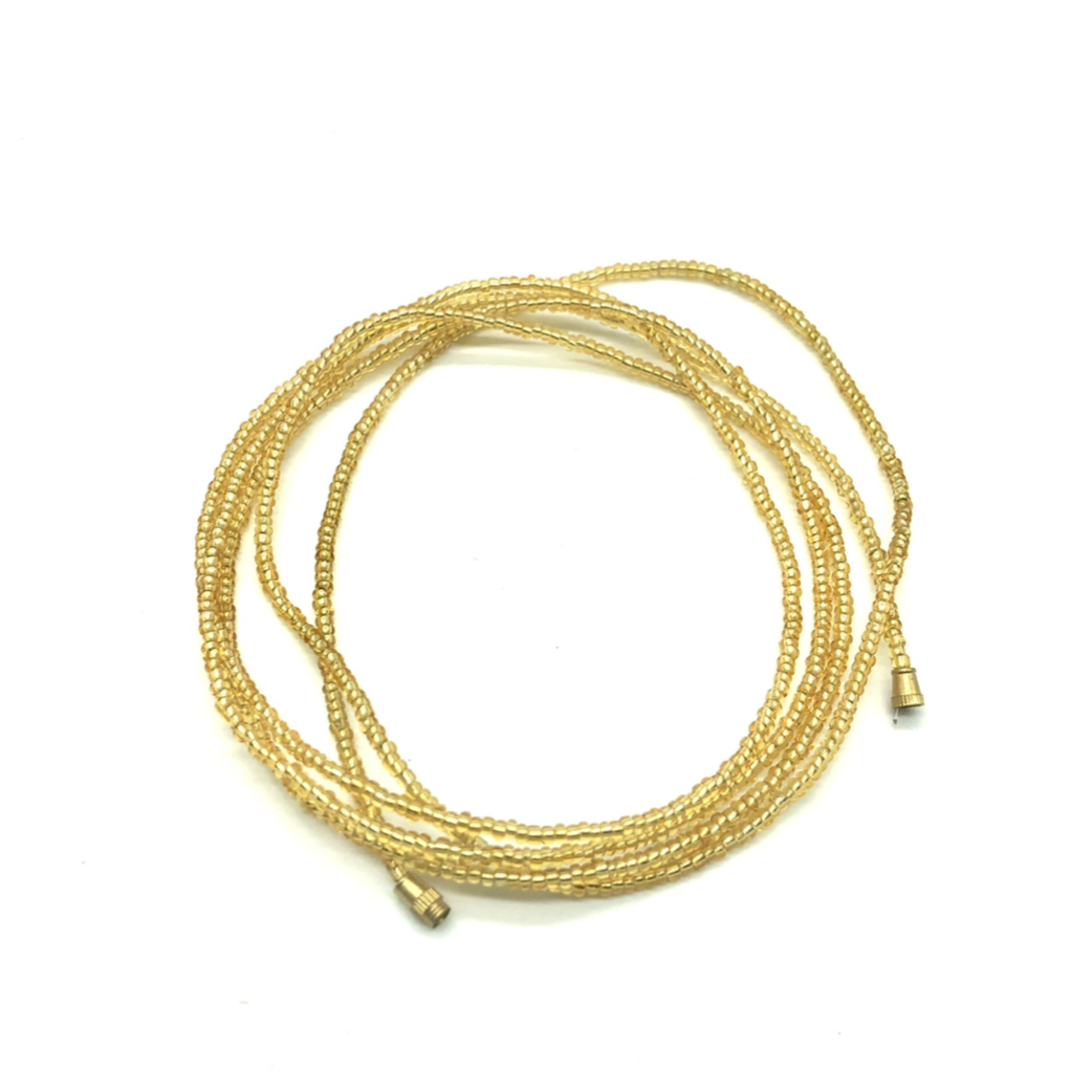 Light Gold! African Waist Beads- African Jewelry, Waist Beads, Belly Chain, Belly Chains, Belly Beads - ShopEzeFashionn