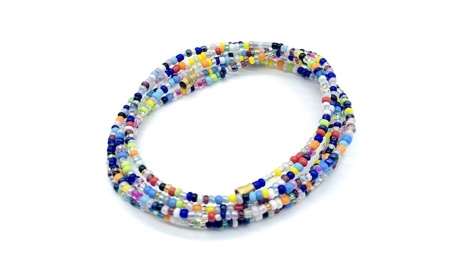 Ocean Multi Color! African Waist Beads / Necklace / Bracelet / Anklet