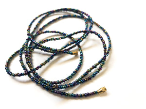 Mermaid Blue! African Waist Beads- African Jewelry, Waist Beads, Belly Chain, Belly Chains, Belly Beads - ShopEzeFashionn