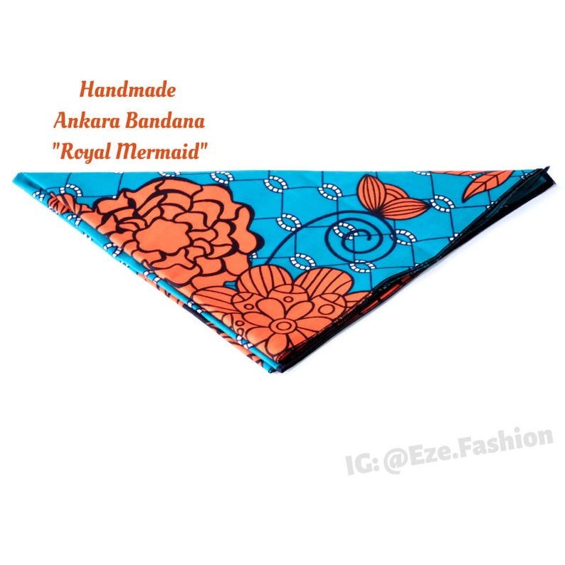 Royal Mermaid! Ankara Bandana (Handmade) - ShopEzeFashionn