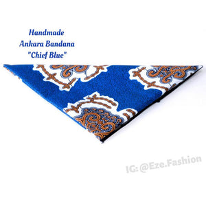 Chief Blue! Ankara Bandana (Handmade) - ShopEzeFashionn
