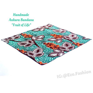 Fruit of Life! Ankara Bandana (Handmade) - ShopEzeFashionn