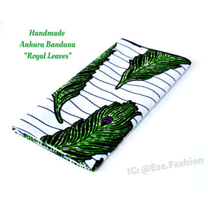 Royal Leaves! Ankara Bandana (Handmade) - ShopEzeFashionn