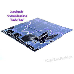 Bird of Life! Ankara Bandana (Handmade) - ShopEzeFashionn