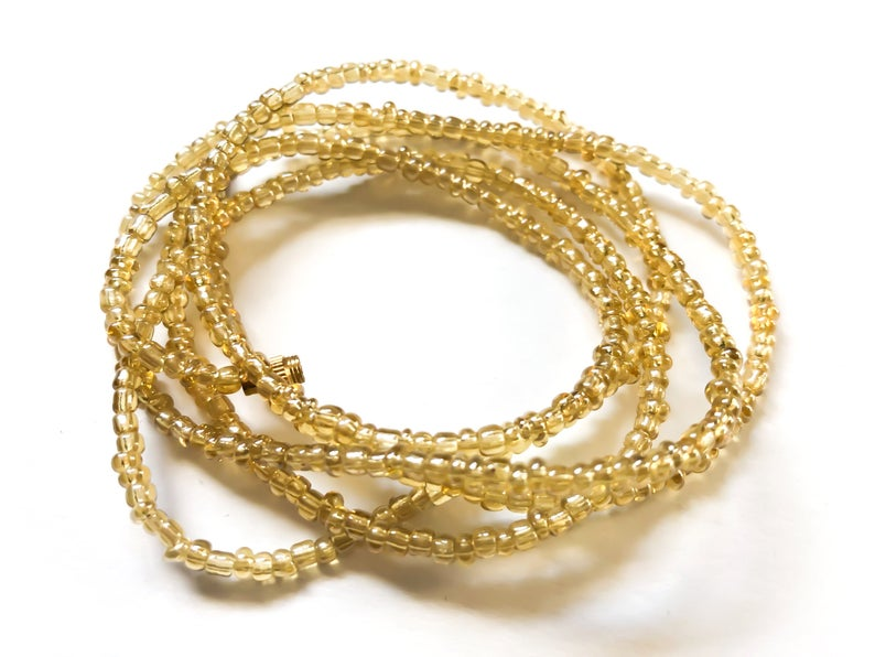 Translucent Ivory! African Waist Beads- African Jewelry, Waist Beads, Belly Chain, Belly Chains, Belly Beads - ShopEzeFashionn