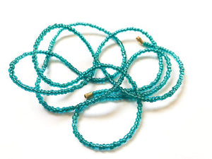 Teal Blue/Green! African Waist Beads- African Jewelry, Waist Beads, Belly Chain, Belly Chains - ShopEzeFashionn