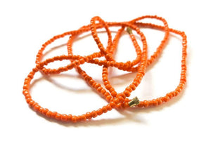 Orange! African Waist Beads- African Jewelry, Waist Beads, Belly Chain, Belly Chains, Belly Beads - ShopEzeFashionn