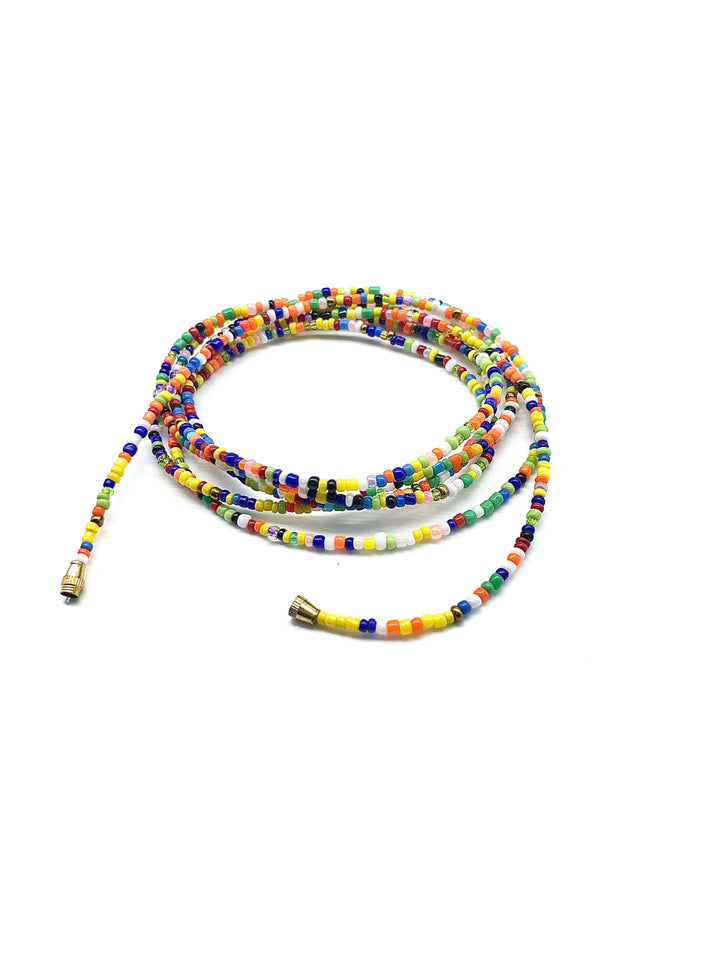 Earth Tone Multi Color! African Waist Beads / Necklace / Bracelet / Anklet
