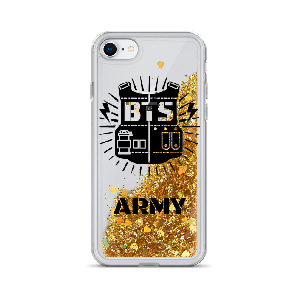 BTS ARMY Liquid Glitter iPhone Case