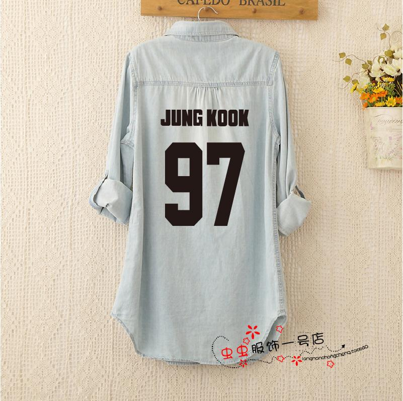 Kpop BTS Soft Denim Loose Shirt