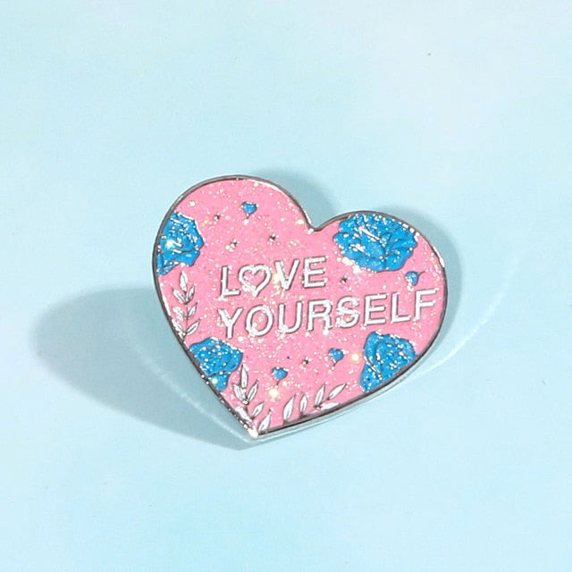 BTS Bangtan Boys Love Yourself Brooch