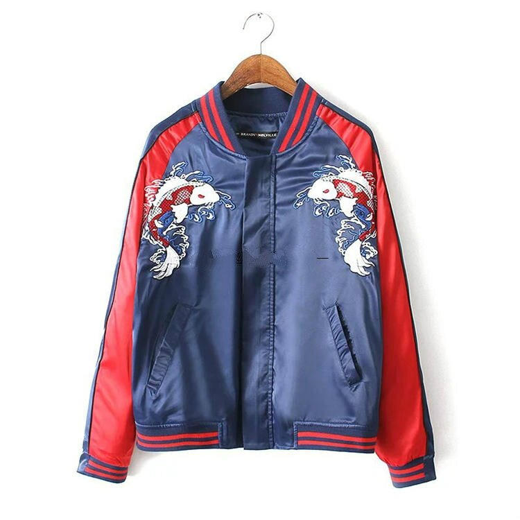 Kpop BTS SUGA Unisex Embroidered Baseball Jacket