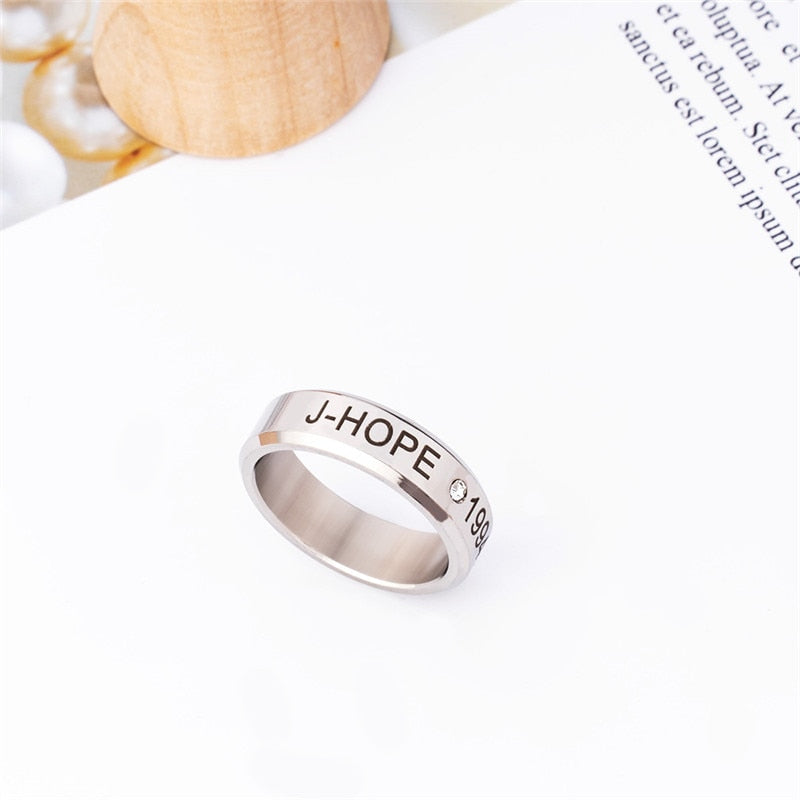 BTS Custom Engraved Ring