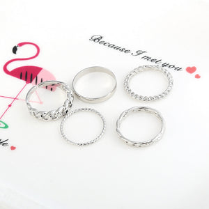 BTS V Signature Look Inspired Rings 5pcs/set
