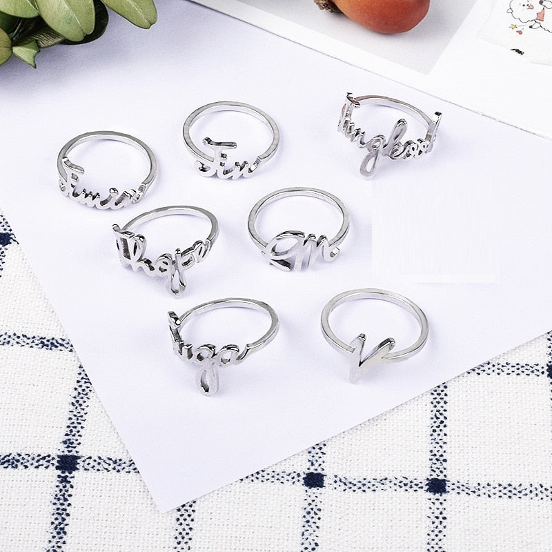 BTS Bias Name Ring