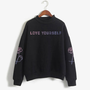 BTS Love Yourself Pink Sweatshirt