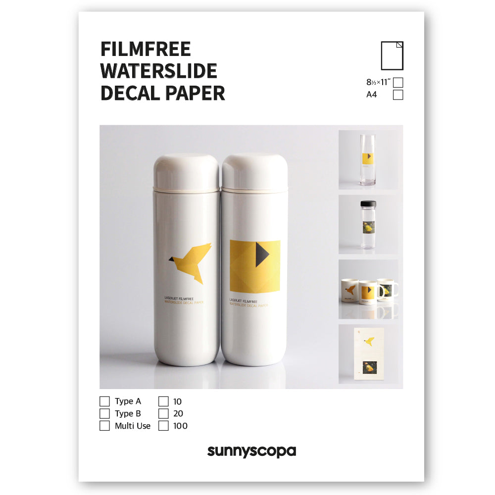 FILMFREE WATERSLIDE DECAL PAPER