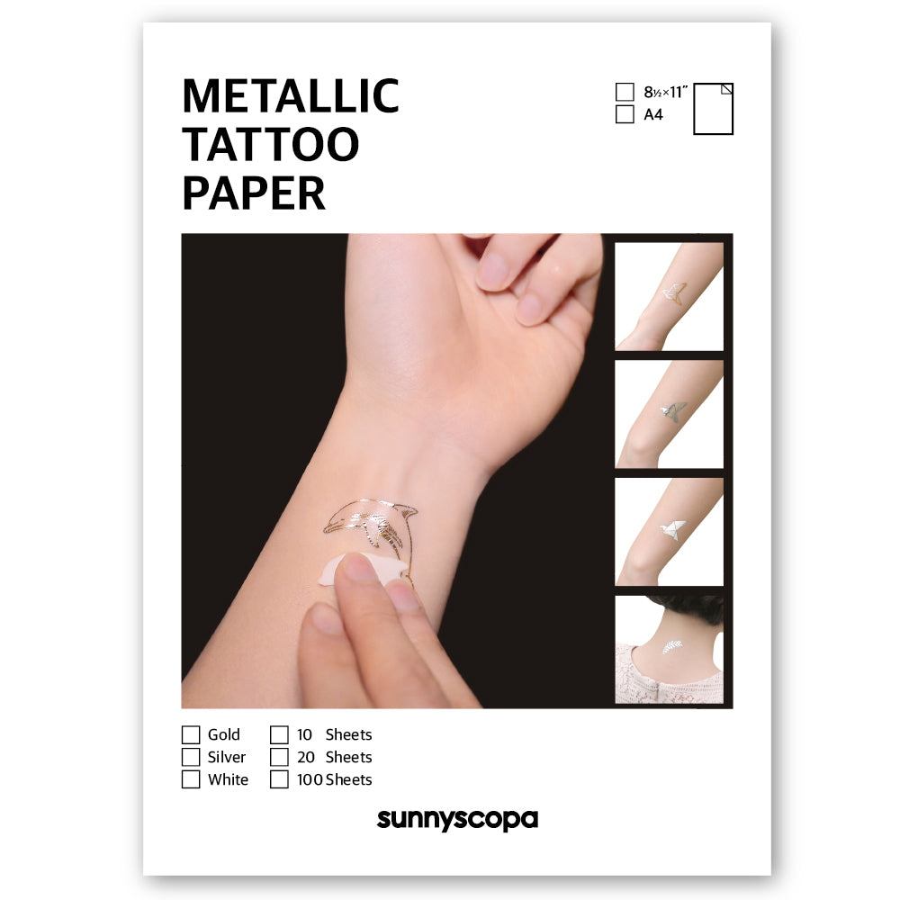 METALLIC TATTOO PAPER