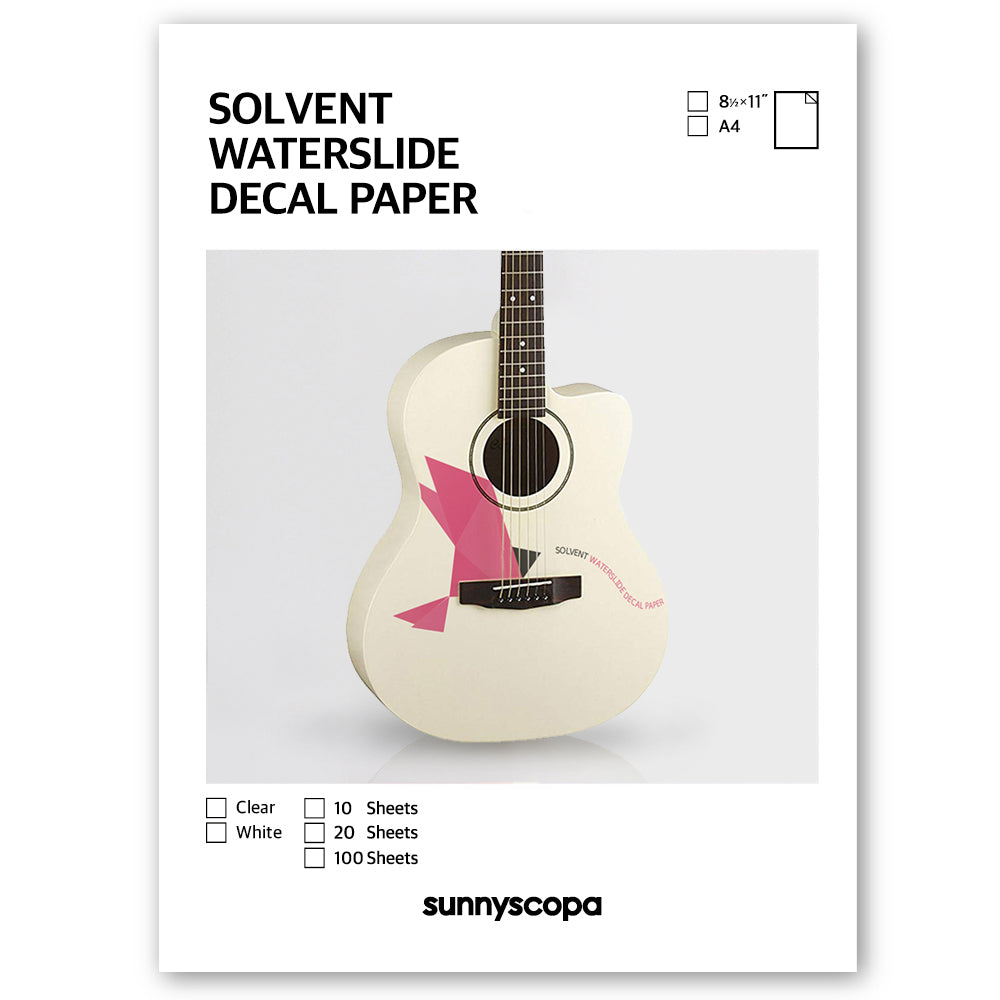 SOLVENT WATERSLIDE DECAL PAPER