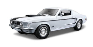 1:18 Scale Model Car 31167 - 1968 Ford Mustang GT Cobra Jet - White