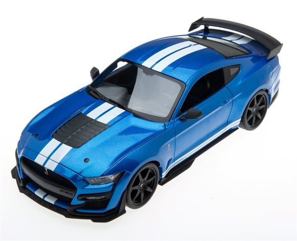 1:18 2020  Mustang Shelby GT500 Blue with White Racing Stripes