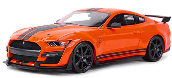 1:18 2020  Mustang Shelby GT500 Orange with Black Racing Stripes