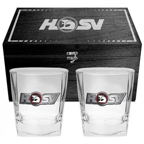 HSV SET X 2 SPIRIT GLASSES IN COLLECTORS GIFTBOX