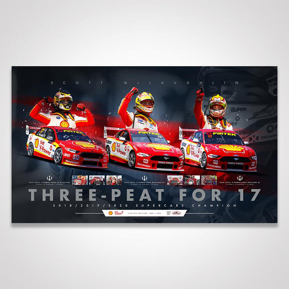 Shell V-Power Racing Team Scott McLaughlin Three-Peat For 17 Limited Edition Print