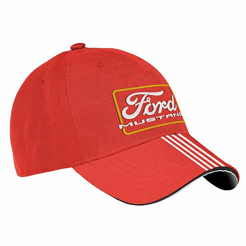FORD MUSTANG RED RACING CAP