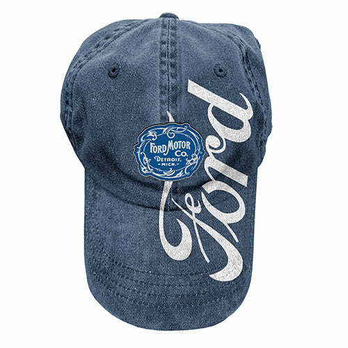 Ford Motor Co Washed Baseball Cap