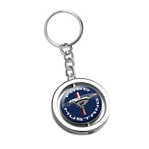FORD MUSTANG SPINNER KEY RING