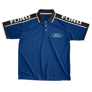 FORD LIGHTWEIGHT SPORTS POLO - BLUE