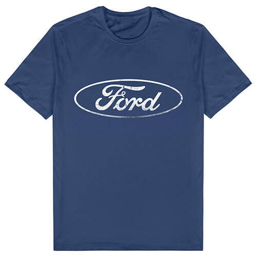 FORD LOGO MENS NAVY TEE