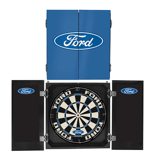 FORD DARTBOARD IN CABINET