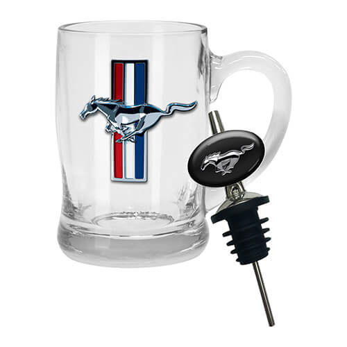 FORD BADGED STEIN WITH POURER