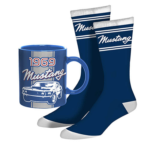 Ford 1969 Mustang Mug and Socks Gift Pack