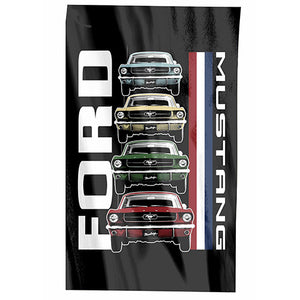 FORD MUSTANG LOGO CAPE/FLAG