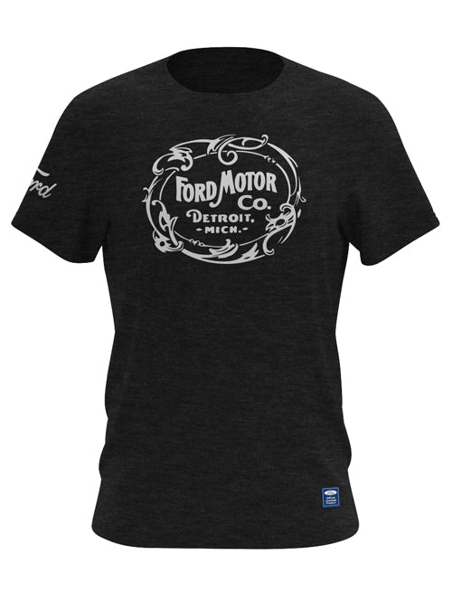 FORD MOTOR CO RETRO CHARCOAL T-SHIRT