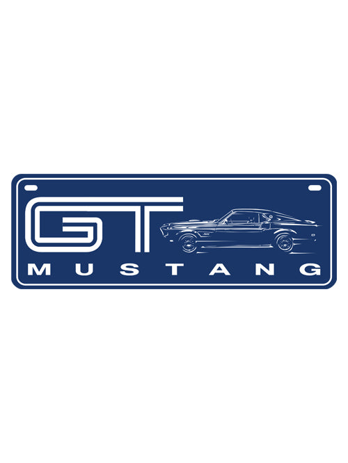 FORD MUSTANG GT NUMBERPLATE
