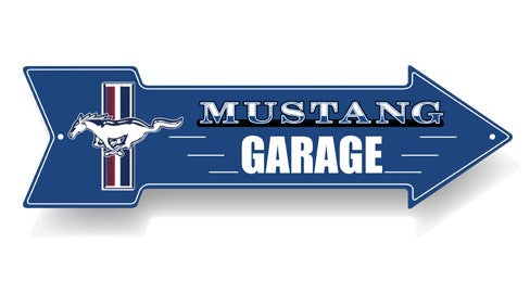 FORD MUSTANG METAL ARROW SIGN