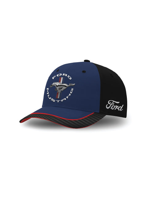 FORD MUSTANG TRIBAR LOGO CAP NAVY/BLACK