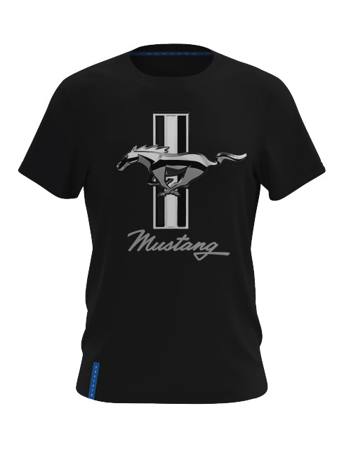 FORD MUSTANG MENS TRIBAR LOGO T-SHIRT