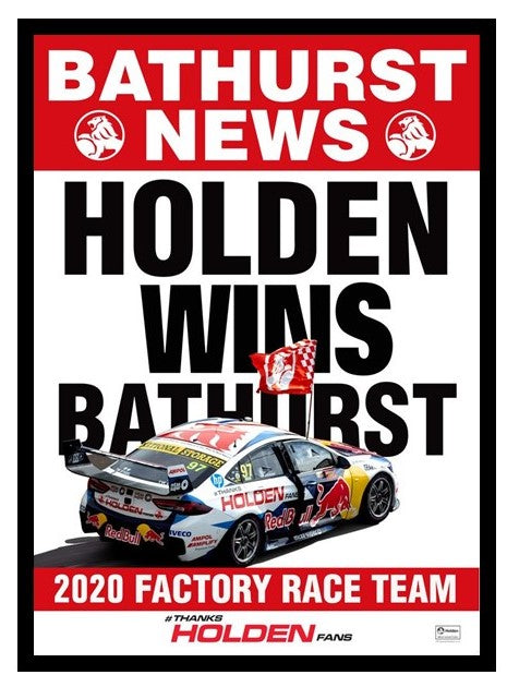 Holden Wins Bathurst Framed Print