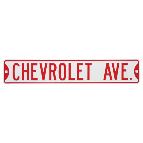 CHEVROLET AVENUE STREET SIGN