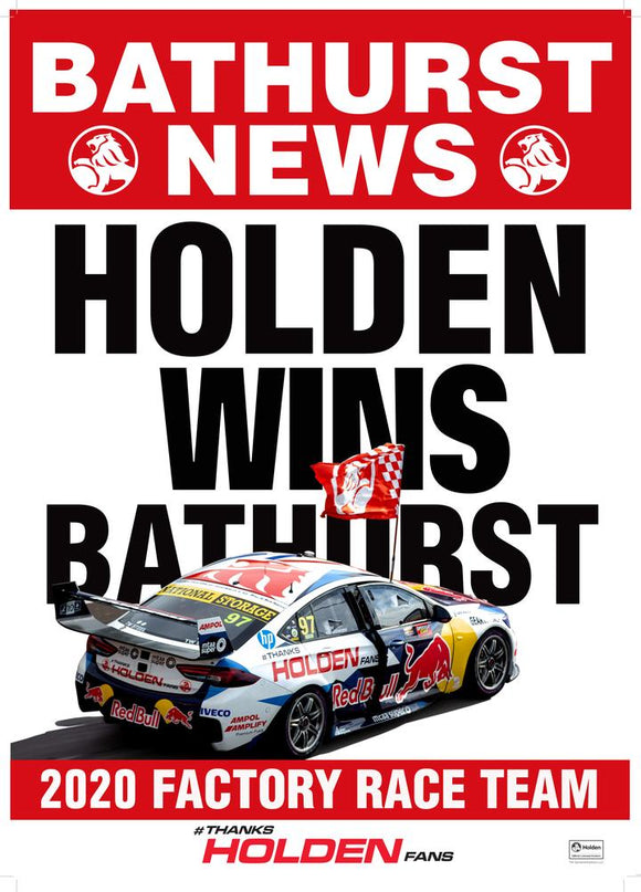 Holden Wins Bathurst Poster