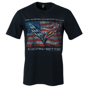 CORVETTE VINTAGE USA FLAG TEE